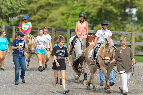 going for a walk at Maryland Therapeutic Riding